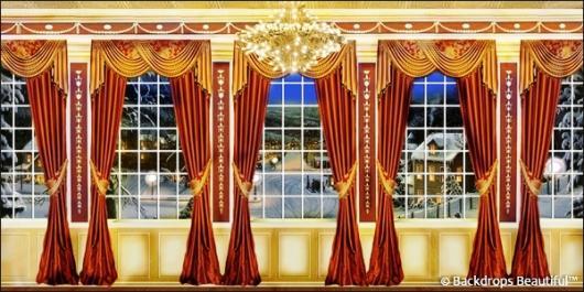 Backdrops: Mansion View  6B Drapes