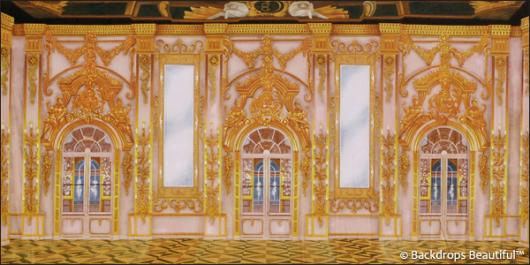 Backdrops: Palace Interior 3D Gold