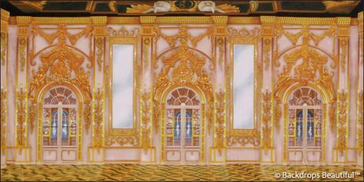 Backdrops: Palace Interior 3D Gold
