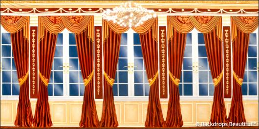 Backdrops: Mansion View 12 Drapes