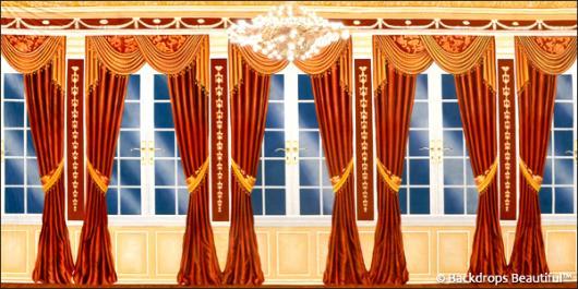 Backdrops: Mansion View 12 Drapes