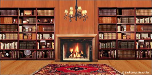 Backdrops: Fireplace 5