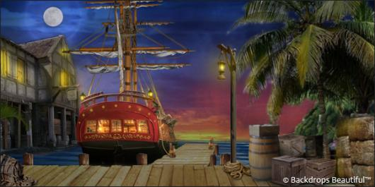 Backdrops: Pirate Ship 3 Dock