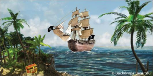 Backdrops: Pirate Ship 1
