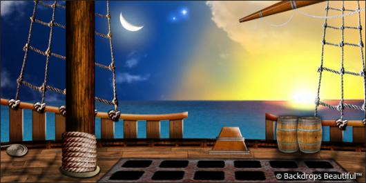 Pirate Ship Deck Backdrop Backdrops Beautiful | ...