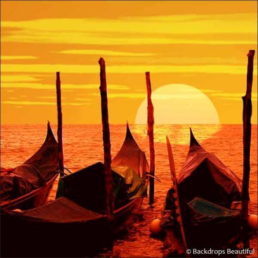 Backdrops: Gondolas at Sunset 2