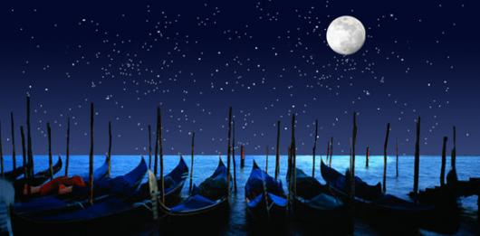 Backdrops: Gondolas by Night 1