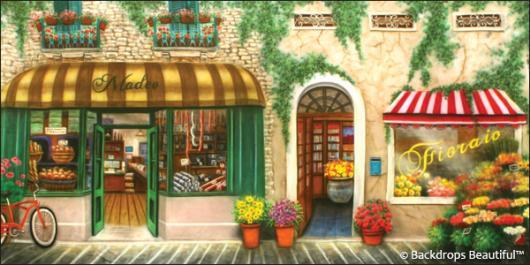 Backdrops Italian Street Scene 5