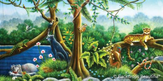 Jungle Animals Backdrop 3   Backdrops Beautiful
