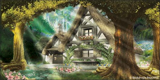 Backdrops: Mystic Forest  8 Cottage