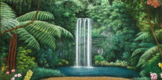 Backdrops: Forest Waterfall 1