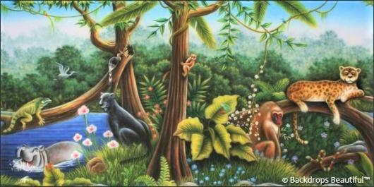 Backdrops: Jungle Animals 1