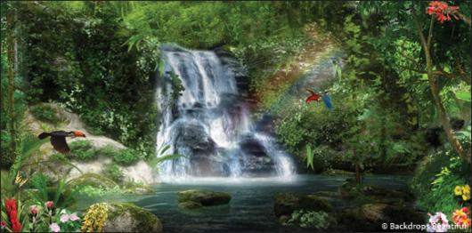 Backdrops: Forest Waterfall 3A