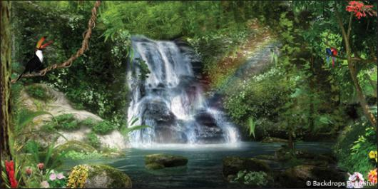 Backdrops: Forest Waterfall 3B