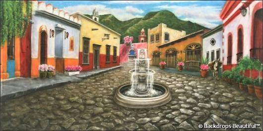 Backdrops: Mexican Village 2