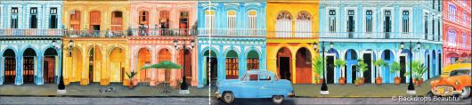 Backdrops: Havana Streets 4 Panel