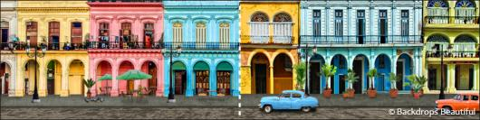 Backdrops: Havana Streets 2 Panel