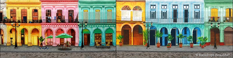 Backdrops: Havana Streets 6 Panel