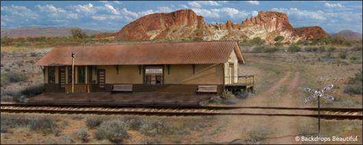 Backdrops: Outback Station 1B