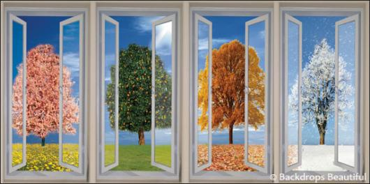 Backdrops: Trees Seasons Windows