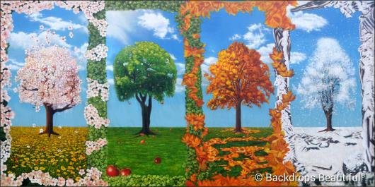 Backdrops: Trees Seasons Panel 2