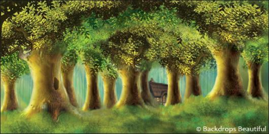 Backdrops: Enchanted Trees 4 Cottage