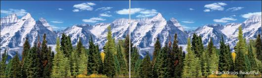 Backdrops: Aspen Mountains 3 Panel