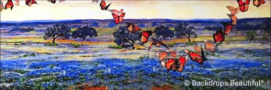 Backdrops: Butterflies in flight