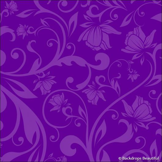 Backdrops: Floral 7 Purple