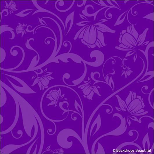 Backdrops: Floral 7 Purple