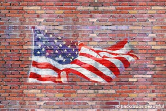 Backdrops: Brickwall 3 Flag