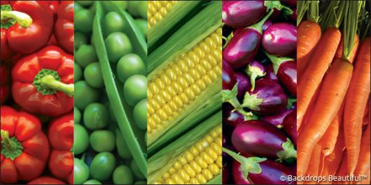 Backdrops: Produce 2 Vegetables