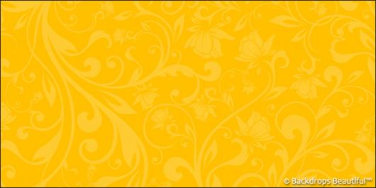 Backdrops: Floral 6 Yellow