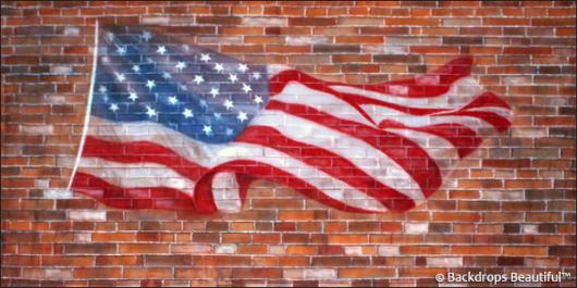 Backdrops: Brickwall 8 Flag