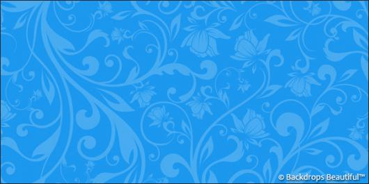Backdrops: Floral 5 Blue