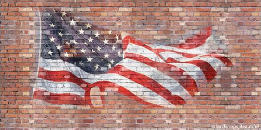 Backdrops: Brickwall 4 Flag