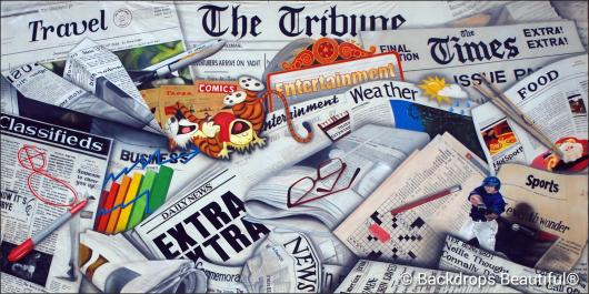 Backdrops: Newspaper 1C