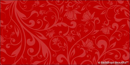 Backdrops: Floral 4 Red