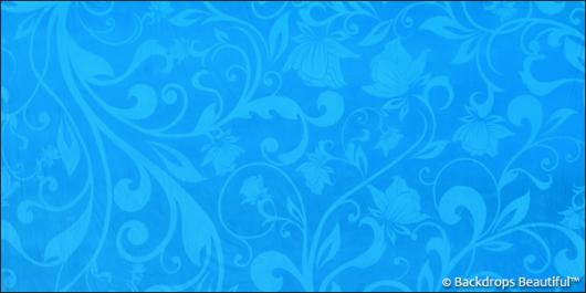 Backdrops: Floral 8 Blue