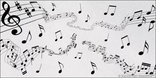 Backdrops: Musical Notes 1