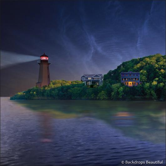 Backdrops: Island 4 Lighthouse