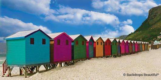 Backdrops: Beach Huts 1
