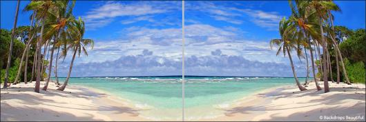 Backdrops: Tropical Beach Panel 3
