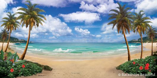 Backdrops: Tropical Beach 12A