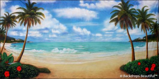 Backdrops: Tropical Beach 12B