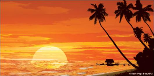 Backdrops: Sunset Beach 3
