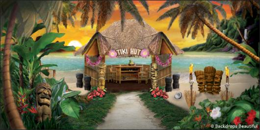 Backdrops: Tiki Hut