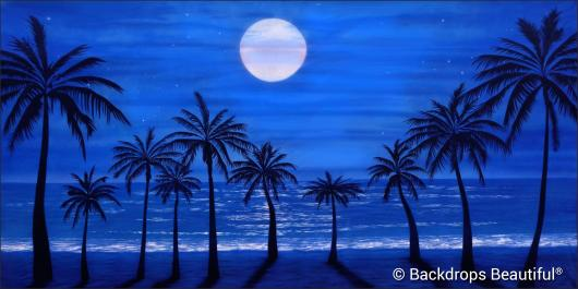 Backdrops: Tropical Beach 17 Moonlight