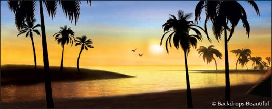 Backdrops: Sunset Beach 5