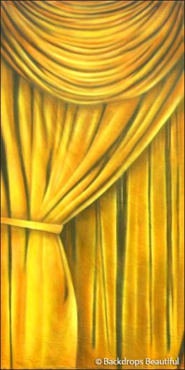Backdrops: Drapes Gold Leg Left